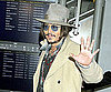 Slide Photo of Johnny Depp At Narita Airport in Japan