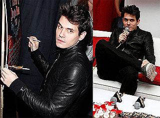 Photos of John Mayer at the H&M Artist Gift Lounge in NYC 2009-12-13 06:00:00
