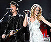 Slide Photo of John Mayer and Taylor Swift Performing at Jingle Ball