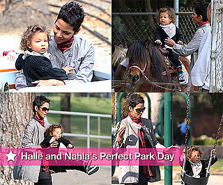 Photos of Halle Berry And Nahla Aubry Together at The Park