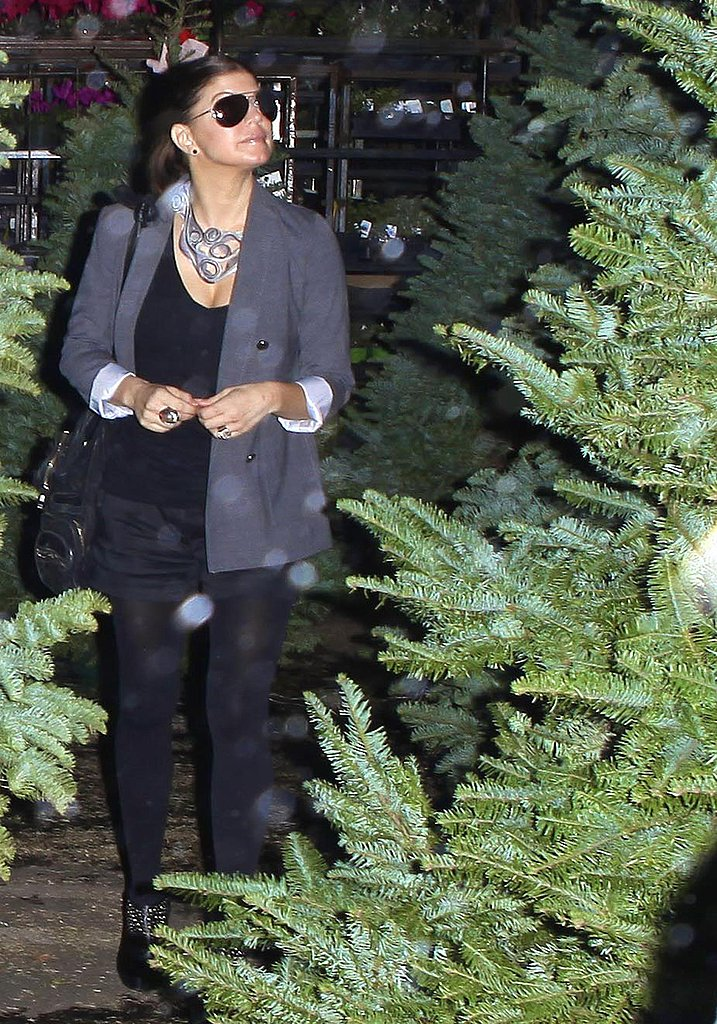 Photos of Fergie and Josh Getting a Christmas Tree