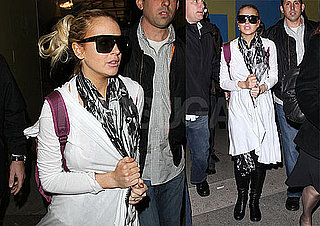 Photos of Lindsay Lohan Arriving Back at LAX After Traveling to India to Film a BBC Special