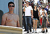 Photos of Shirtless Matthew Fox in Rome