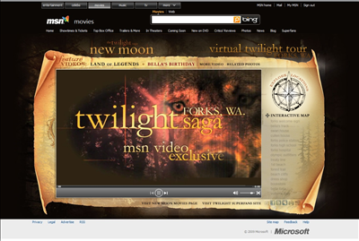 MSN Gets Its Very Own Twilight Website