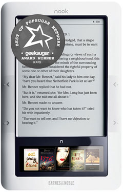 Barnes and Noble Nook Named GeekSugar Reader's Favorite eReading Device