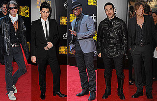 Photos of Pete Wentz, Ne-Yo, Joe Perry, Adam Lambert, and Keith Urban on 2009 American Music Awards Red Carpet 2009-11-22 18:27:53
