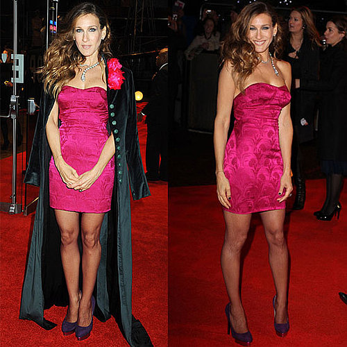Sarah Jessica Parker Wears Hot Pink L'Wren Dress to the UK Screening of Did You Hear About the Morgans?