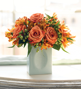 Pick up some dahlias at your local florist or order this Martha Stewart Sunrise Bouquet ($50) to get the look.