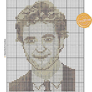 Tell me:  do you love or hate this Edward cross-stitch pattern?!