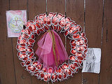 Why not turn a collection of old sunglasses into a holiday wreath?  Source:  Flickr User love not fear