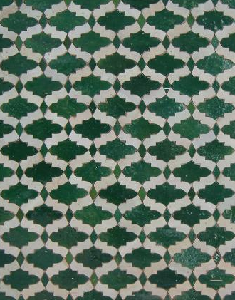 Moroccan tile is always a good way to add visual interest to floors.