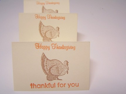 Tell your guests what you're really thankful for this season with these Turkey Placecards ($4.50).