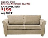 Ikea is offering incredible savings on a few select products this weekend. The Karlsvik Sofa will go for $199, reduced from $299, this Saturday, while other products will be reduced all weekend or on specific days.