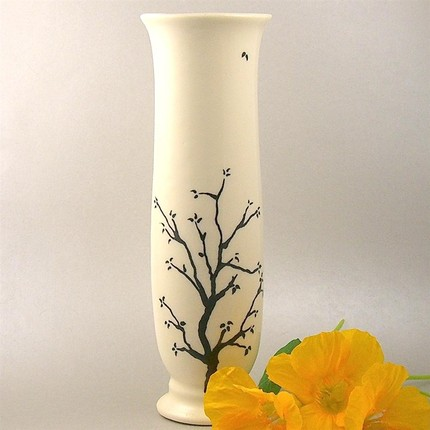 The Black Twiggy Vase ($40) was inspired by the oak trees outside the artist's studio.