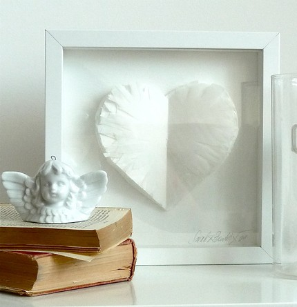 This White Angel Heart Framed Art ($48) was created by layering transparent paper to create a three-dimensional feathery effect.