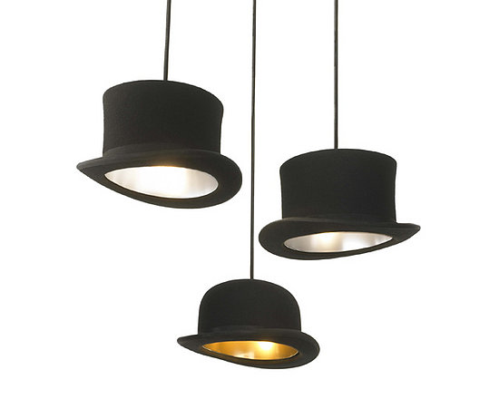 Hang some hats from your ceiling with the Jake Phipps Jeeves and Wooster Pendants.