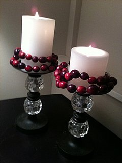 The Eighth DIY of Christmas: Cranberry Candle Wraps