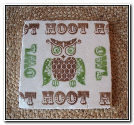 Rest hot stuff on this Owl Trivet ($9)