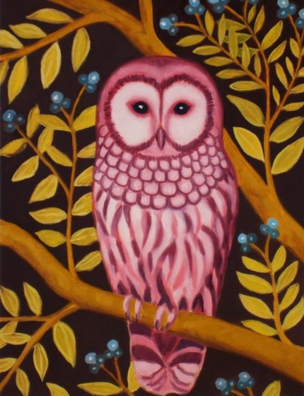 The Lady Owl Print ($18) is pretty, and slightly trippy, in pink.
