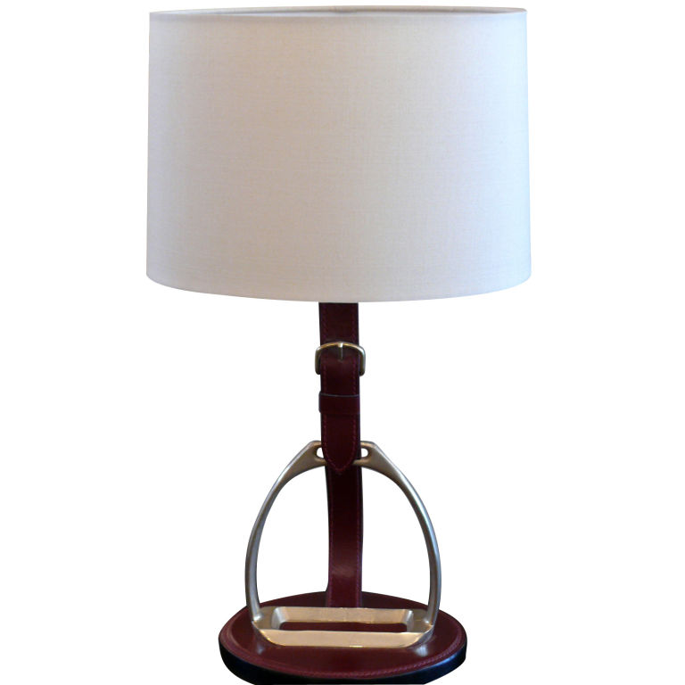 This Hermes Style Horseshoe Lamp ($1,800) will help every home get a stirrup up on the competition.