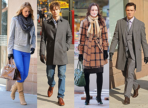 Photos of Leighton Meester, Blake Lively, Ed Westwick, Chace Crawford Filming Gossip Girl in New York