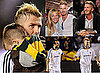 Photos of David Beckham New Hair Cuddling Cruz, David Beckham at Lakers Game, David Beckham Winning MLS Western Conference