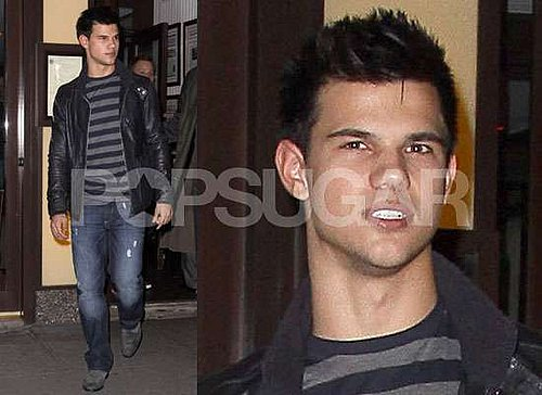 Photos and Interviews With New Moon Taylor Lautner About Doing His Own Stunts, Getting Inside Bella and Playing Football