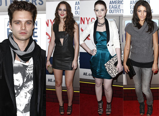 Photos of Gossip Girl Cast at American Eagle Event — Leighton Meester, Sebastian Stan, Jessica Szohr, Michelle Trachtenberg