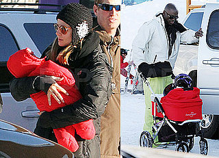 Photos of Heidi Klum And Seal With Leni And Lou in Aspen