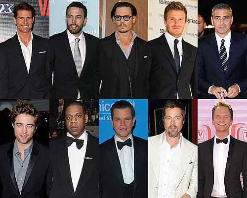 Photos and Poll of Favorite Male Stars of 2009 Including Johnny Depp, Robert Pattinson, Tom Cruise and Davdi Beckham