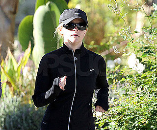 Slide Photo of Reese Witherspoon Jogging in LA