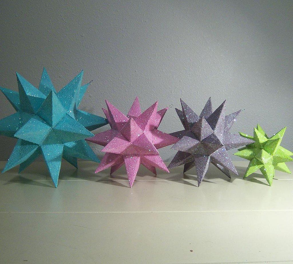Colorful, glittery, and geometric, these Moravian Stars ($20) will give any party some pop!