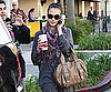 Slide Photo of Jessica Alba On Cell Phone in LA