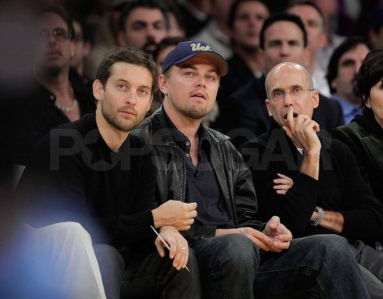 Photos of Leo and Toby at Lakers
