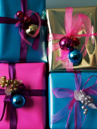 Cool Idea: Wrapping With Ornaments