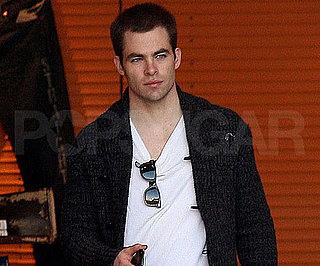 Slide Photo of Chris Pine Shopping on Christmas Eve