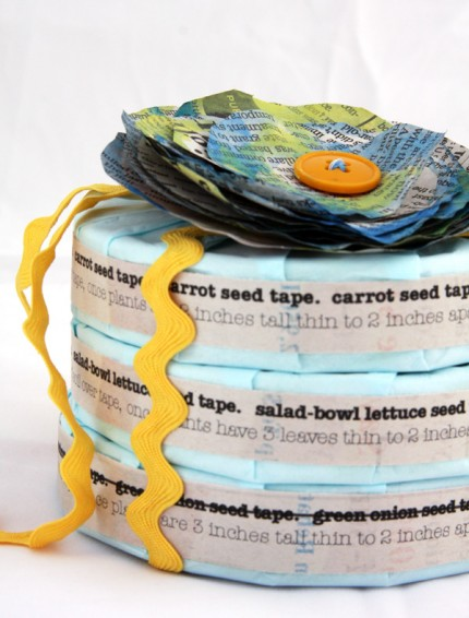 Get your gardening friends excited for the Spring by making them seed tape.