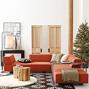 A sectional where friends can lounge creates a lively communal space. Try the West Elm Tillary Modular Seating ($799-$2,196).