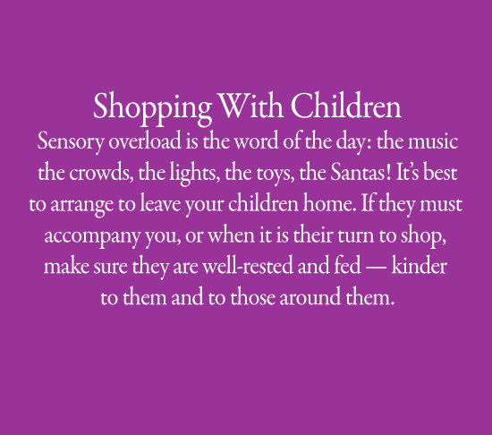 Avoid Shopping With Children