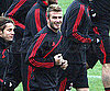Slide Photo of David Beckham Practicing in Milan