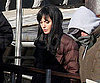 Slide Photo of Angelina Jolie Wearing a Black Wig in NY on Salt