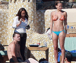 Slide Photo of Leonardo DiCaprio and Bar Refaeli in Their Swimsuits in Mexico