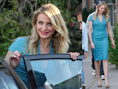 Photos of Cameron Diaz And Seth Rogen Filming The Green Hornet in LA