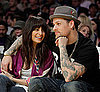 Slide Photo of Nicole Richie and Joel Madden at the Lakers Game