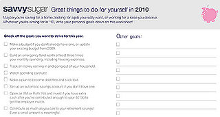 Get Savvy in 2010 With Our Resolution Doc!