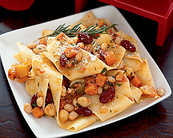 Bon Appetit Recipe For Pappardelle With Bean Bolognese