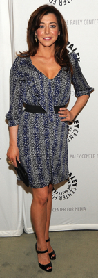 Alyson Hannigan Wears Printed Dress to How I Met Your Mother 100th Episode Party