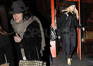 Photos of Ashlee and Jessica Simpson Eating in NYC