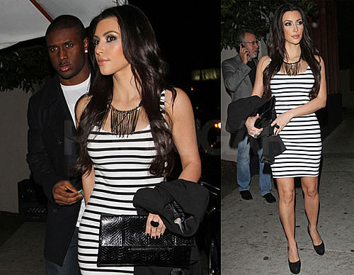 Photos of Kim Kardashian And Reggie Bush Out to Dinner at Nobu