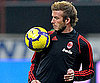 Slide Photo of David Beckham Warming up Before a Game in Milan